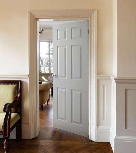 6 Panel White Internal Doors 999 Howdens Joinery Instore