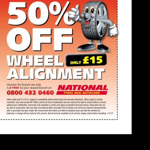 National Tyres and Autocare Voucher & Promo Codes December National Tyre and Auto Care is the United Kingdom's biggest individual fast fit tyre specialist. From a network of over branches, it services at least 1 million retail customers annually.