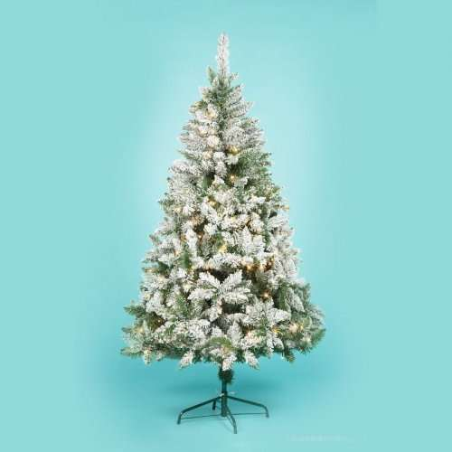 Half Price Christmas Trees Asda Inc 6ft Led Pre Lit Snow Effect Tree Now 25 Down From 50 Hotukdeals