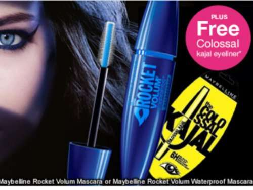 Superdrug 3 for 2 across all maybelline and free colossal
