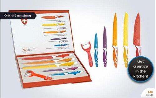 Six-piece Swiss Line ceramic knife set (Seleccion de Producto) £12.00 with 4.99 P&P = £16.99 @ KGBDeals - hotukdeals