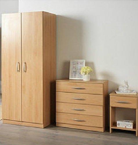 3 piece bedroom furniture beech white ash set inc del for Bedroom furniture set deals