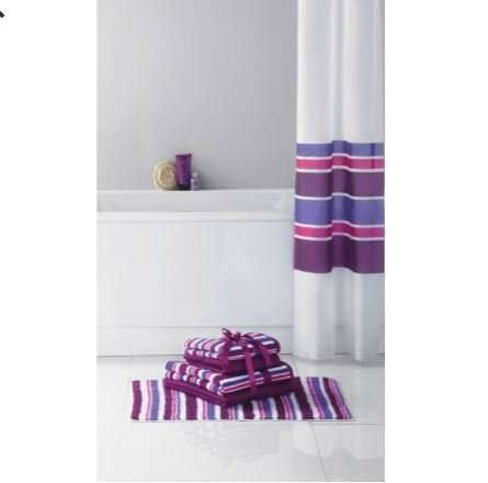 colourmatch stripe shower curtain pink and purple. Black Bedroom Furniture Sets. Home Design Ideas