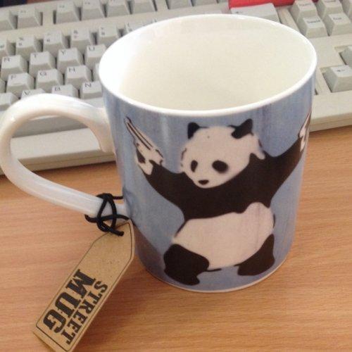 Banksy design mugs cups home bargains 99p hotukdeals gumiabroncs Choice Image