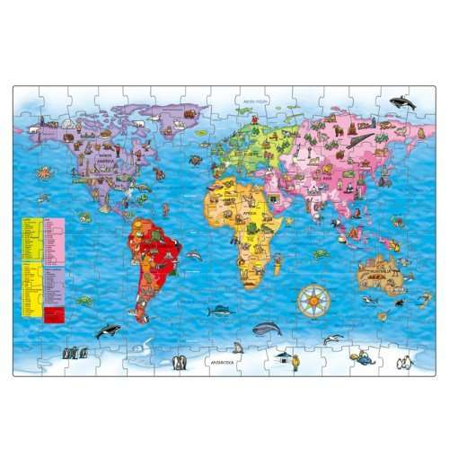 Orchard toys world map puzzle and poster 698 amazon hotukdeals gumiabroncs Choice Image