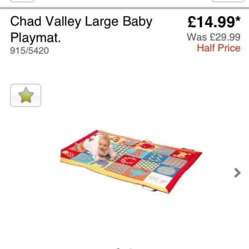 chad valley large play mat argos hotukdeals. Black Bedroom Furniture Sets. Home Design Ideas