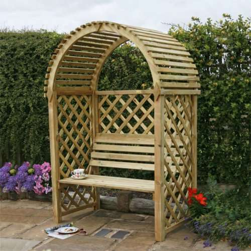 Wooden Garden Benches B Q: Blooma Chiltern Wooden Arbour Down From £149 To £50 @ B&Q