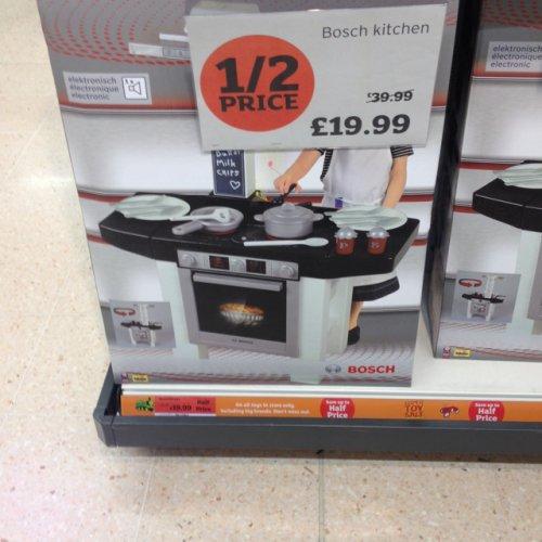 Bosch Childrens Kitchen £19.99 @ Sainsburys Instore