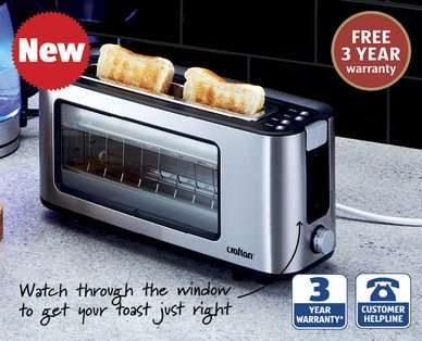 glass toaster for at aldi from thursday 13th. Black Bedroom Furniture Sets. Home Design Ideas