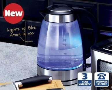 glass kettle for at aldi from thursday 13th. Black Bedroom Furniture Sets. Home Design Ideas