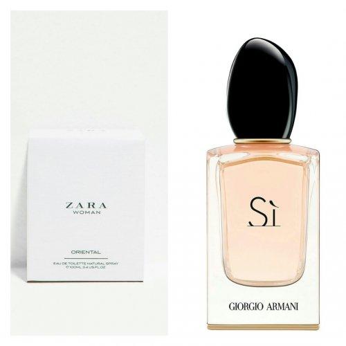 Zara Woman Oriental Perfume Smells The Same As Giorgio Armani Sì