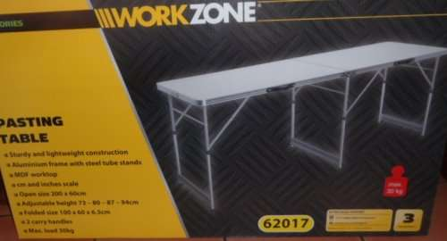 Aldi Workzone Metal Paste Table Reduced To 163 12 99