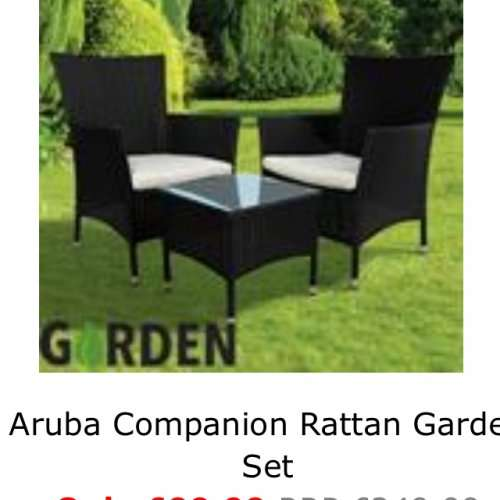 Rattan garden furniture home bargains hotukdeals for Garden furniture deals