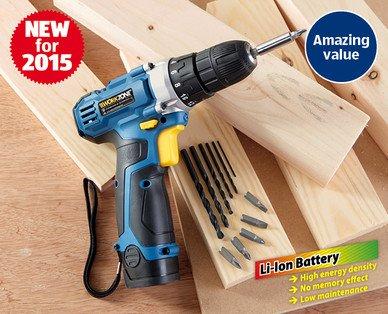 10 8v li ion cordless drill 25 aldi hotukdeals for Aldi gardening tools 2015