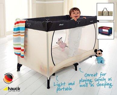 hauck dream n play travel cot mattress size