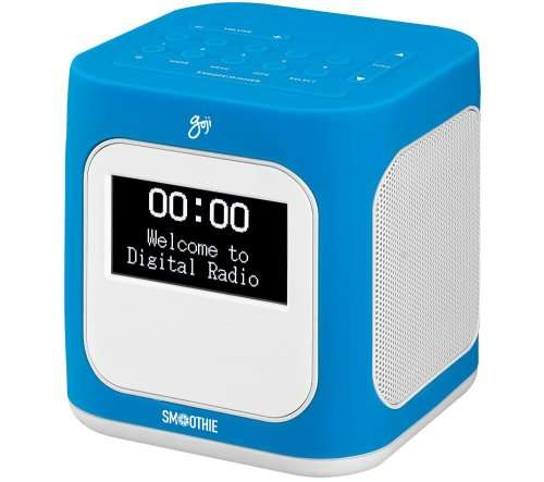 goji smoothie gcdabn14 dab clock radio blue white free delivery topcashback. Black Bedroom Furniture Sets. Home Design Ideas