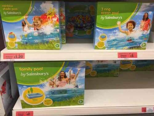 Kids paddling pools reduced to clear 1 sainsburys for Paddling pools deals