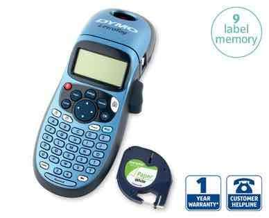 dymo label maker from 27th august aldi hotukdeals. Black Bedroom Furniture Sets. Home Design Ideas