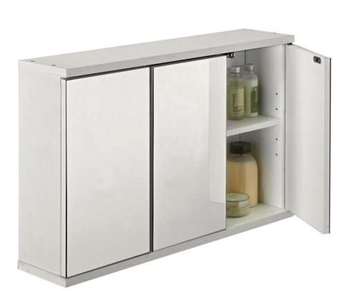 argos white bathroom cabinet 3 door mirrored bathroom cabinet white was 163 49 99 now 163 10738