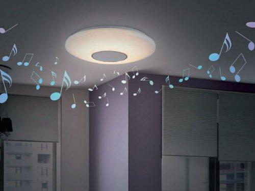 livarno lux led ceiling light with bluetooth speaker in lidl hotukdeals. Black Bedroom Furniture Sets. Home Design Ideas