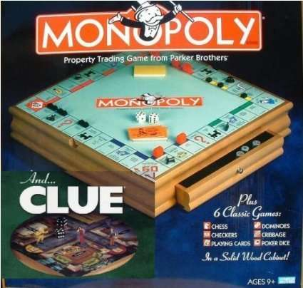 Wood Monopoly And Cluedo Compendium Board Game 3590 At Amazon
