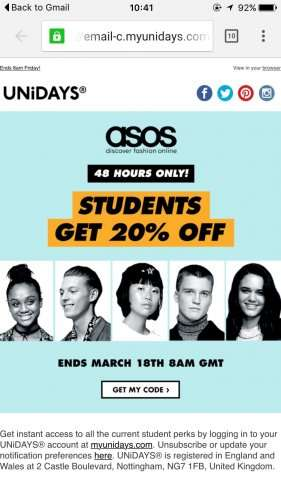ASOS voucher codes and Asos discount codes unidays Fashion for the budget bae with ASOS discount codes Asos discount codes unidays. All you have to do is register with UNiDAYS to get your discount and you're.