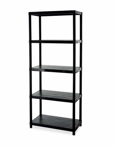 5 tier plastic garage shelving unit aldi in store only. Black Bedroom Furniture Sets. Home Design Ideas