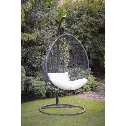 havana hanging egg chair reduced from 300 100 b m hotukdeals. Black Bedroom Furniture Sets. Home Design Ideas