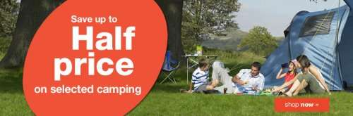 Halfords tents deals