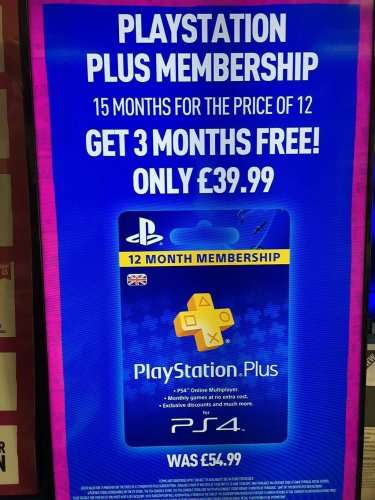 playstation plus 15 months for the price of 12 months 39. Black Bedroom Furniture Sets. Home Design Ideas
