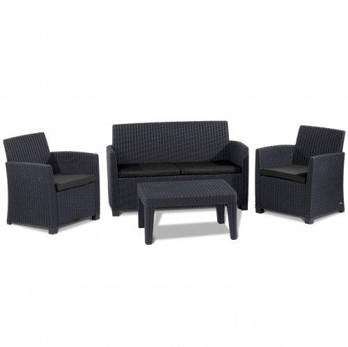 elsa black rattan effect garden furniture 150 delivered. Black Bedroom Furniture Sets. Home Design Ideas
