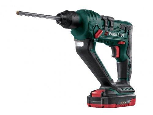 Parkside 20v li ion cordless hammer drill on sale for Batteria parkside 20v