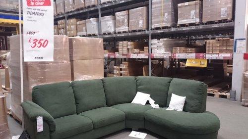 Tidafors Corner Sofa £350.00 Reduced To Clear RRP £850 @ IKEA Wembley    HotUKDeals
