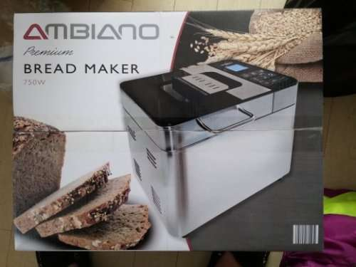 aldi ambiano bread maker 750w 40 off in store. Black Bedroom Furniture Sets. Home Design Ideas