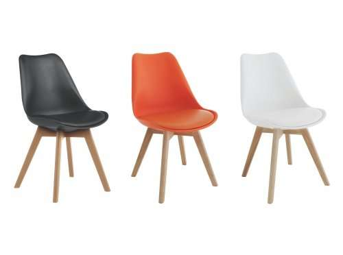 low priced 34f2f 31853 Habitat Jerry Pair of Dining Chairs (x2) - Black, Orange or ...