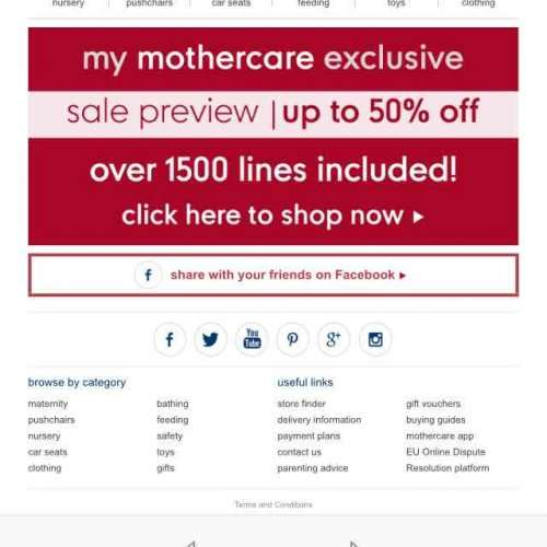 Mothercare Shopping Guide
