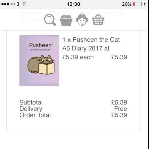 Pusheen The Cat 2017 Diary £5.39 Delivered With Free Delivery Code @  Calendar Club Online