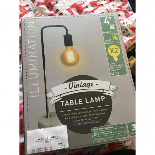 Vintage Table Lamp Aldi Was 163 19 99 Now 163 9 99 Hotukdeals