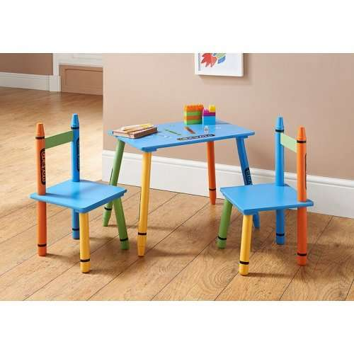 Enjoyable Crayon Table 2 Chairs 19 99 Instore Bm Hotukdeals Ocoug Best Dining Table And Chair Ideas Images Ocougorg