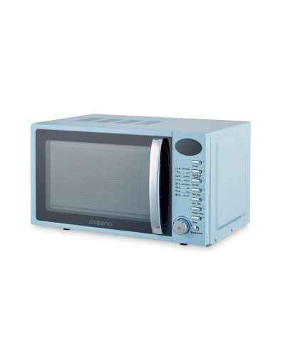 Blue Retro 20L Microwave With 8 Functions £26.99 Delivered