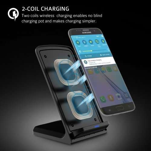fast wireless wireless charging stand for samsung galaxy. Black Bedroom Furniture Sets. Home Design Ideas