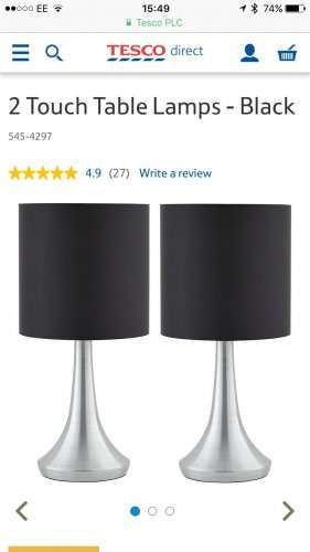 Touch Lamps 2 For 163 10 Tesco Direct Free C Amp C Hotukdeals