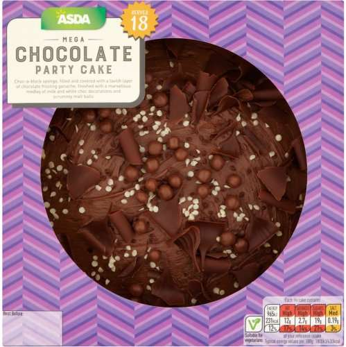 Vanilla Smash Cake Asda Uk Filled With Candy: ASDA Mega Chocolate Cake (Serves 12 To 18 People) Was £6