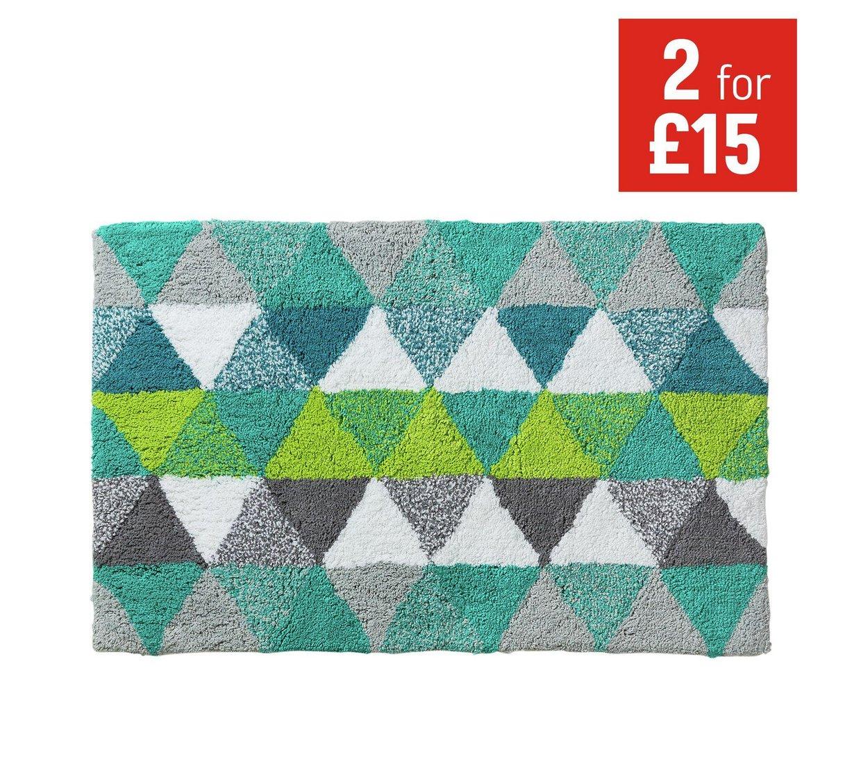 ColourMatch Bath Mat - Geometric - Argos £3.49 only - HotUKDeals