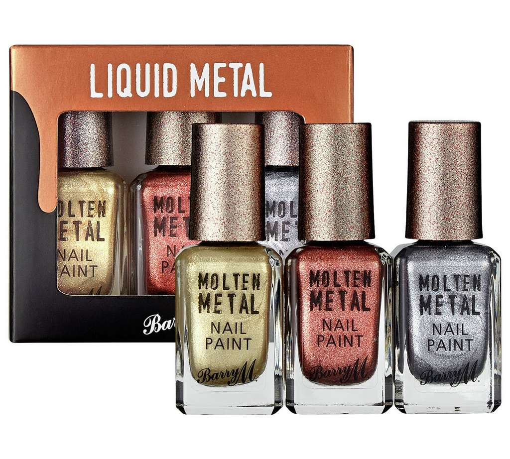 Barry M Cosmetics Molten Metals Nail Paint Set - 3 Pack now £4.99 at ...