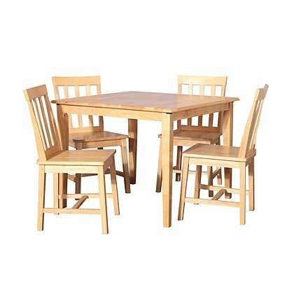 Solid Wood Dining Table And 4 Chairs 80 At Asda 9 95 Del