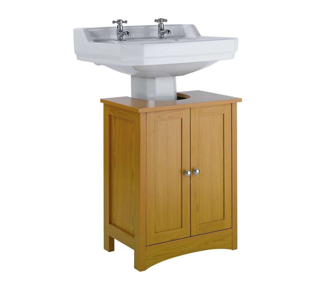 Home Tongue And Groove Under Sink Storage Unit Pine
