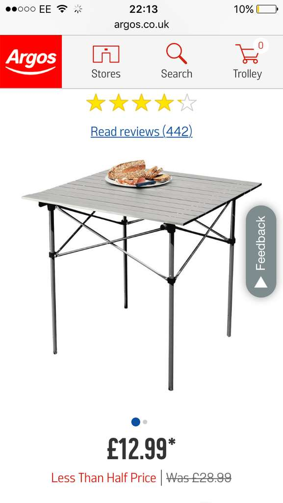 aluminium folding camping table with slatted top. Black Bedroom Furniture Sets. Home Design Ideas