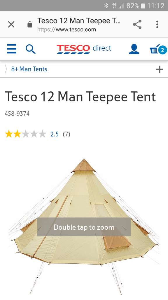 sc 1 st  HotUKDeals & Tesco 12 man teepee tent reduced from £200 to £50 instore - HotUKDeals