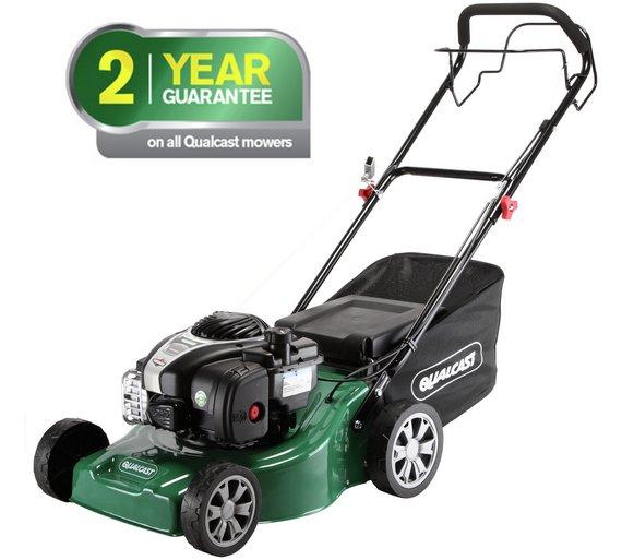 qualcast 41cm wide self propelled petrol lawnmower 125cc. Black Bedroom Furniture Sets. Home Design Ideas